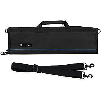 Messermeister 8-Pocket Padded Knife Roll, Black