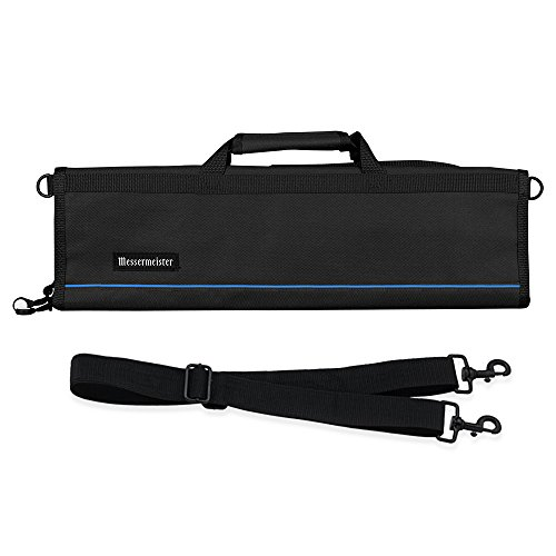 Messermeister 8-Pocket Padded Knife Roll, Black