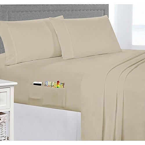 Ordinaire Smart Sheets Luxury Bedding Collection   Sheet Set With Side Storage Pockets  On Fitted Sheet