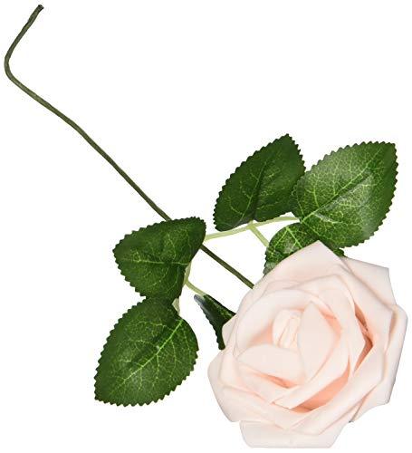 Flores artificiales de rosas de aspecto real, rosas falsas con tallo para bricolaje, ramos de boda, centros de mesa, arreglos...