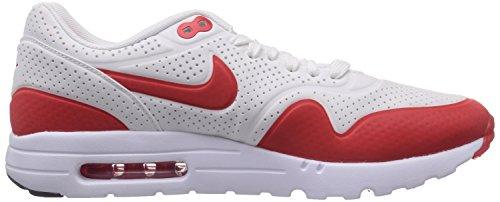Nike Heren Air Max 1 Ultra Moiré, Zwart / Zwart-wit Top Wit / Challenge Rood-wit