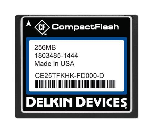 Delkin Compactflash Card - CE25TFKHK-FD000-D - Flash Memory Card, SLC, Compact Flash Card, Type I, 256 MB, C400 Series (Pack of 2) (CE25TFKHK-FD000-D)