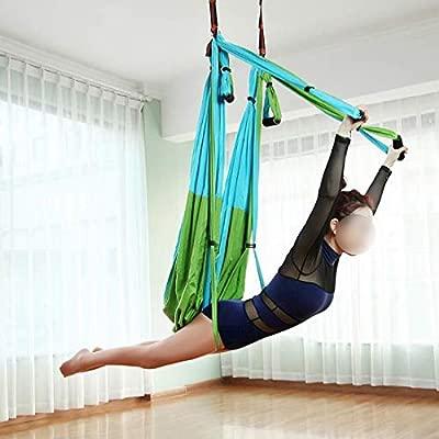 WAVENI Hamaca de Yoga aérea con extensión de crisantemo con ...
