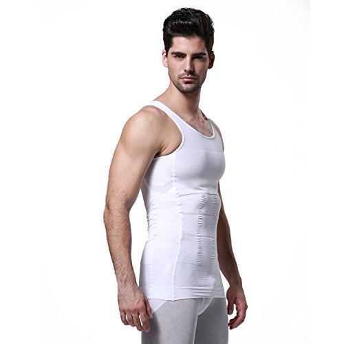 Gkvk Mens Slimming Body Shaper Vest Shirt Abs Abdomen Slim