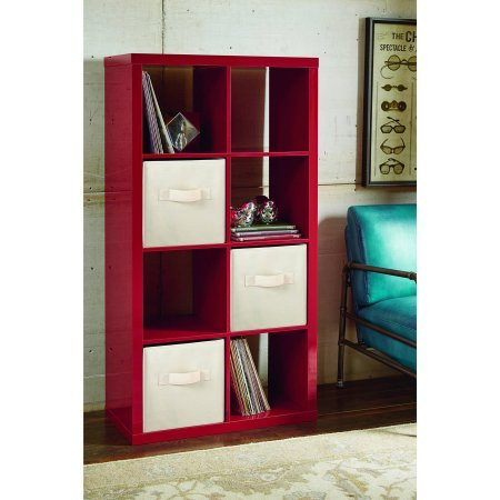Better Homes and Gardens BH14-084-099-02 8-Cube Organizer,Creates multiple storage solutions, High Gloss Red Lacquer Color