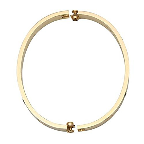 Y.S.M.Y Birthday Gift for Him Love Bracelet- Titanium Steel Screw Hinged Cuff Bangle Bracelet Yellow Gold 7.5IN by Y.S.M.Y (Image #2)