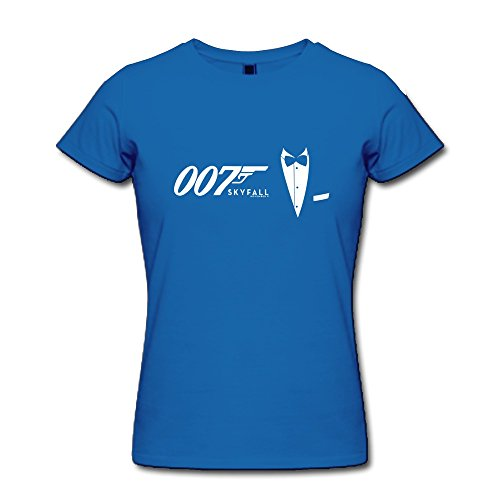 DASY Women's O Neck James Bond Shirt XX-Large RoyalBlue