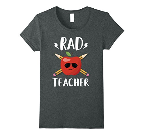Womens Rad Teacher Cute Education Funny Teaching Tee shirt Small Dark Heather