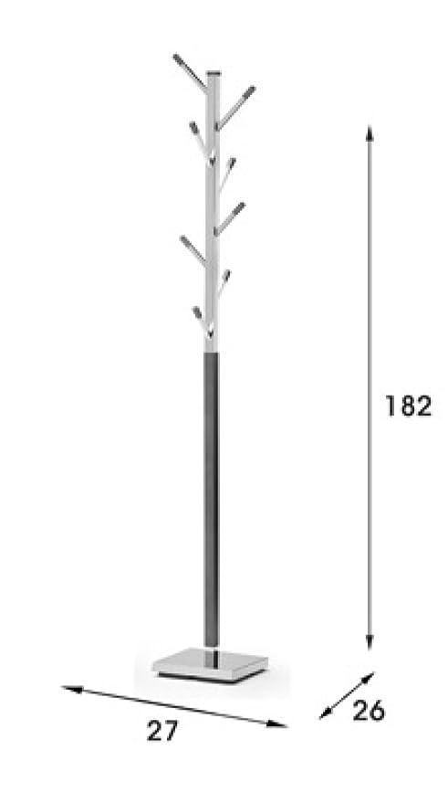 Due-home Perchero de pie moderno, color wengue