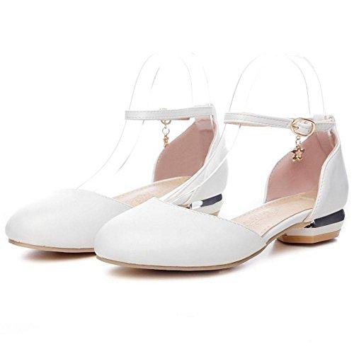 Sandales Femmes Ferme Bout Plates white TAOFFEN n4ZBpUq8