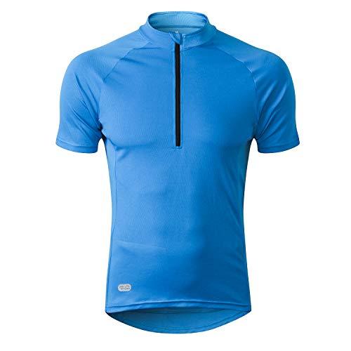 - INBIKE Cycling Jersey Men, Short Sleeve Shirt Bike Accessories Running Tops Bike Biking Shirt Blue Large
