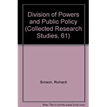 Division of powers and public policy