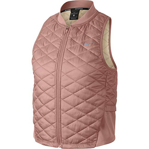 - Nike Women's AeroLayer Running Vest Rust Pink/Guava ICE M