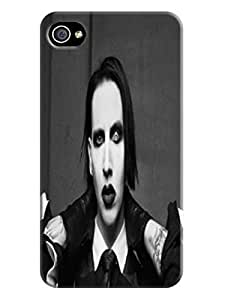 Classic design tpu phone cover with texture for iphone4/4s of Marilyn Manson in Fashion E-Mall