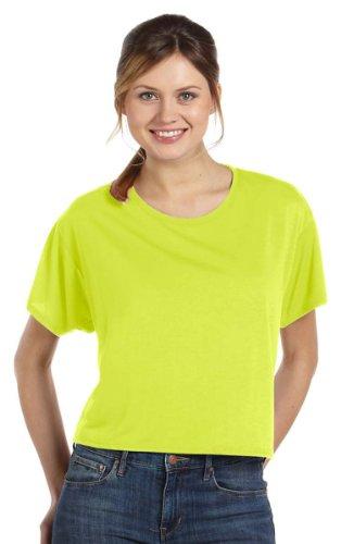 Bella + Canvas Womens 3.7 oz. Boxy T-Shirt (B8881) -NEON YELLO -S