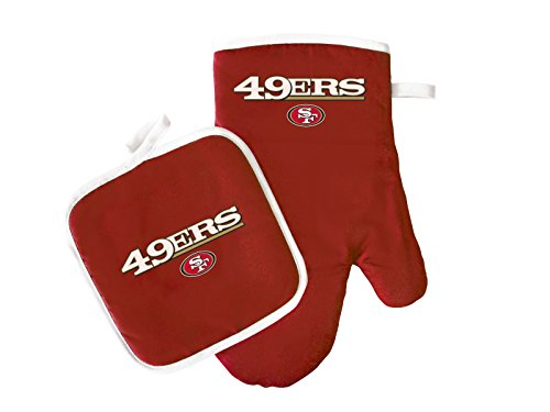 NFL San Francisco 49ers Logo Oven Mitt & Pot Holder, One Size, Red by Pro Specialties Group