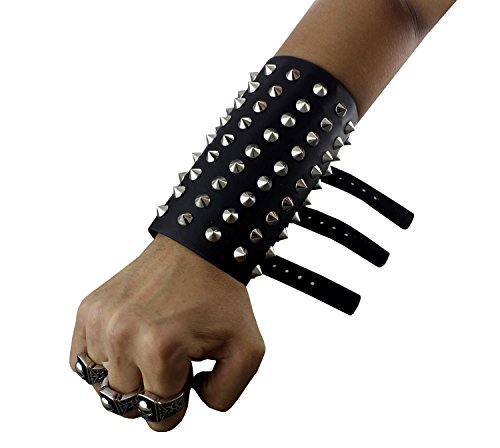 Fashion Spiked Wristband Leather Wrist Band Cuff Strap Rock Punk Goth Metal ()