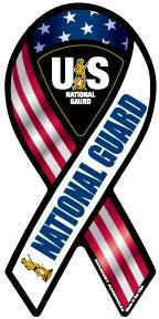 National Guard Mini Ribbon Magnet