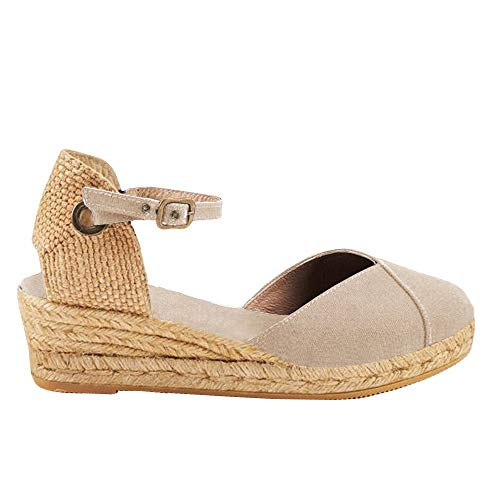 Con Sandals Scarpe B Testa Eleganti Zeppa Tonda Estivi Romani Tacco Estive Donna Cachi Casual Sandali 5zwqIIU