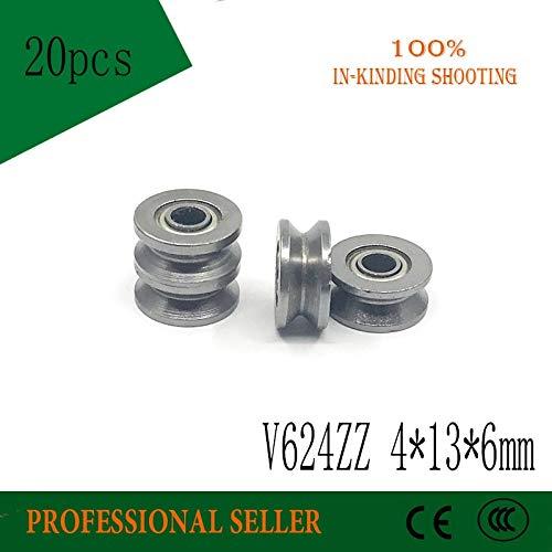 20pcs 624VV Sealed Ball Bearings 4x13x6mm Vgroove Ball Bearings