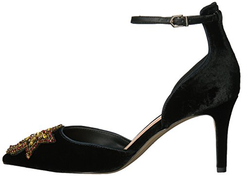Perline Black Tacco Caviglia Sam Luna Edelman Scarpa Donna Nero Stella Cinturino F2274m1001 Velluto gwAH6tq