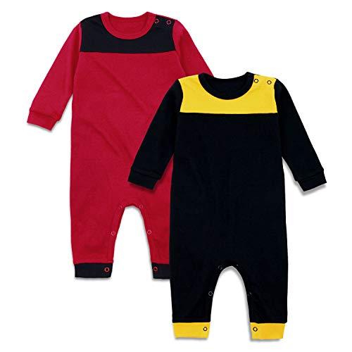 OPAWO 2-Pack Solid Unisex Baby Long Sleeve Football