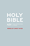 NIV Bible - Words of Christ in Red (New International Version)