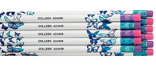 WalterDrake Personalized Butterfly Pencils - Set Of 12