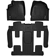 MAXLINER A0043/B0044 MAXFLOORMAT Floor Mats 2 Row Set Black for Traverse/Enclave/Acadia/Outlook (With 2nd Row Bucket Seats)