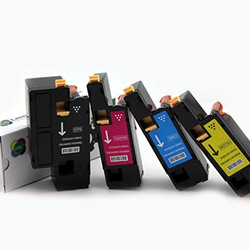 4PK Caire(TM) Compatible Dell 1250c / 1350cnw / 1355cn / 1355cnw / C1760nw / C1765nf / C1765nfw Toner Cartridge (MYCK)