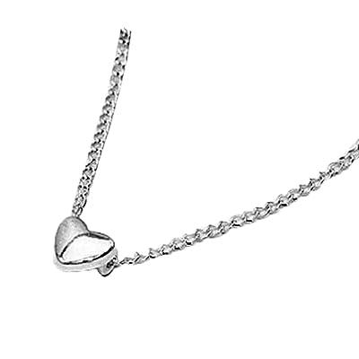 Hosaire Collier de Pendentif femmes élégant cœur de forme chaîne collier fantaisie chaîne de la clavicule bijoux cadeaux