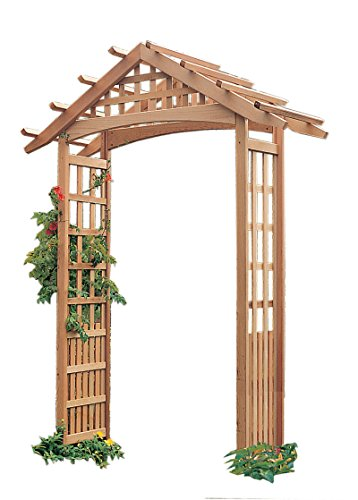 Western Red Cedar Arbor - Arboria Nantucket Garden Arbor Cedar Wood 90 Inches High Extra Strong to Hold Heavier Vines and Plants