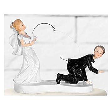 Amazon De Jakopabra Hochzeits Deko Figur Witziges Brautpaar