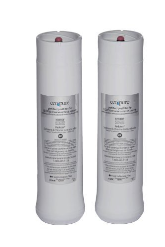 EcoPure ECOROF9 No-Mess Reverse Osmosis Drinking Water Filtration System Filter Set by EcoPure