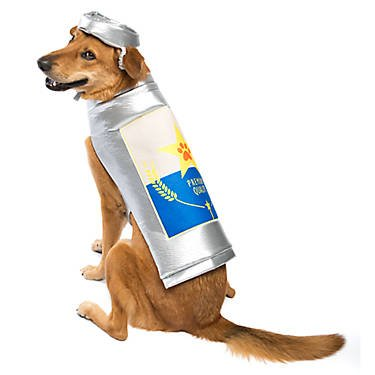Thrills & Chills Beer Can Dog Costume~MEDIUM~ -