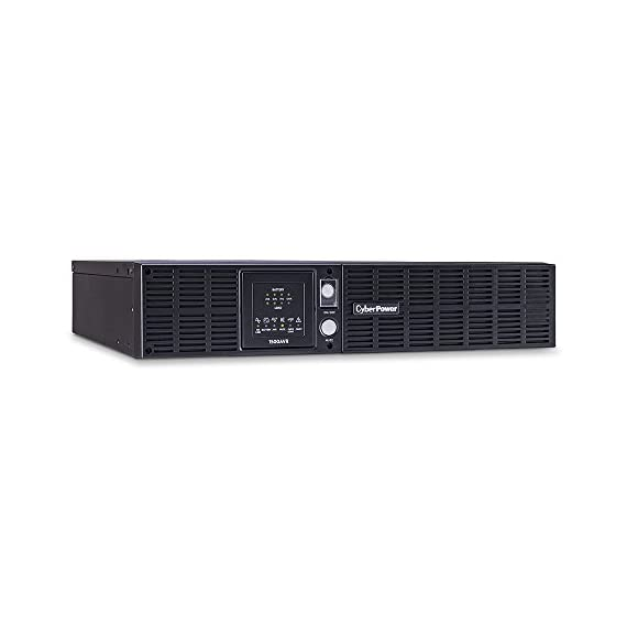 CyberPower CPS1500AVR Smart App LCD UPS System, 1500VA/900W, 8 Outlets, AVR, 2U Rack/Tower 3 1500VA/900W Battery Backup Uninterruptible Power Supply (UPS) System.  This simulated sine wave UPS with line-interactive topology uses Automatic Voltage Regulation (AVR) to protect against undervoltages and overvoltages. 8 BATTERY BACKUP & SURGE PROTECTED OUTLETS: (8) NEMA 5-15R Outlets. PLUG TYPE AND CORD:- NEMA 5-15P, 10 FT cord. Plug Style- Straight LED STATUS LIGHTS: Indicate battery status, AVR, Over loads and fault conditions. REMOTE MANAGEMENT: Requires optional RMCARD205