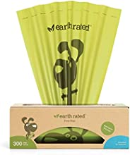 Earth Rated Eco-friendly Dog Poop Bags, 300 Dog Waste Bags on a Large Single Roll, Guaranteed Leak-proof, Unsc