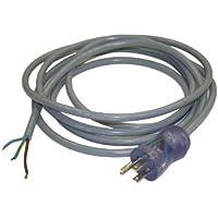 Interpower 86611600 North American Hospital Grade Power Cord, NEMA 5-15 Plug Type, Unterminated Connector Type, Gray, 15A Amperage, 125VAC Voltage, 3m Length
