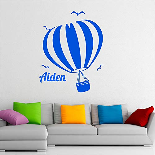 Poinly Quotes Wall Sticker Mural Decal Art Home Decor Hot Air Balloon Kids Room Personalised Custom Name Remove Decal Bedroom Nursery Room Decorative