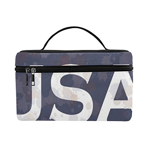 Patriotic United States Of America Star Stripes Armed Forces Pattern Lunch Box Tote Bag Lunch Holder Insulated Lunch Cooler Bag For Women/men/picnic/boating/beach/fishing/school/work