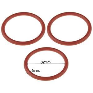 3 anelli ad O per pistone estraibile per macchina da caffè Saeco, dimensioni: 32 x 4 (diametro interno x spessore…