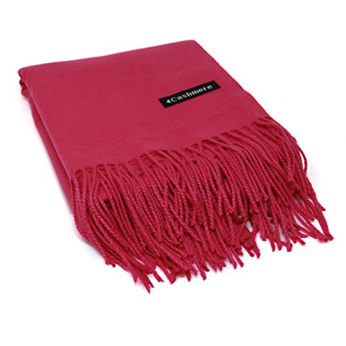 - Pink 100% Cashmere Scarf - Gift Box, Large Size, Removable Tag, Limited Availability