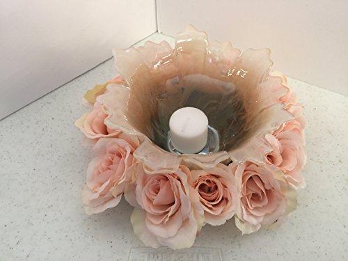 ement- Murano Glass - Pink/Cream Roses ()