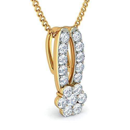 Or jaune 18K 0,44CT TW Round-cut-diamond (IJ | SI) Pendentif