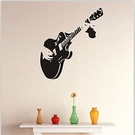 Wa 1 Unids Guitarra Sofá Fondo de Pantalla de la Pared Decoración Creativa Extraíble Sala de estar Dormitorio Etiqueta de La Pared: Amazon.es: Hogar