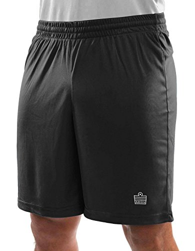 Mexico Tee World Cup (Admiral Club Ready-to-Play Soccer Shorts, Black/White, Youth Large)