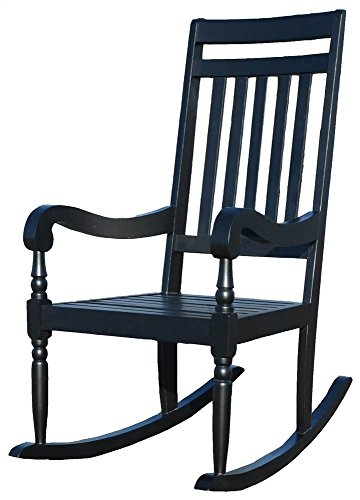 Carolina Belmont Slat Rocker in Black