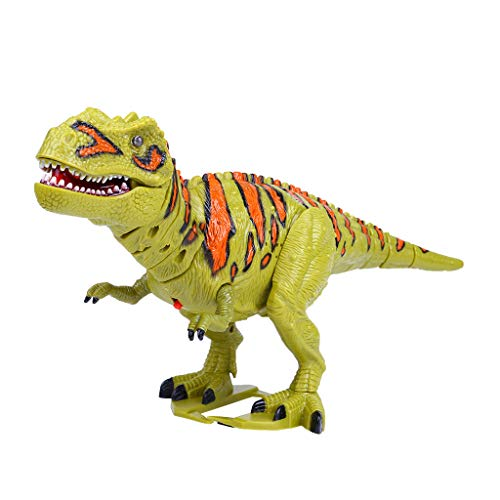 Soosch Walking Dinosaur T-Rex Toy Figure with Lights and Sounds Realistic Tyrannosaurus Dinosaur Toys for Kids Battery Operated