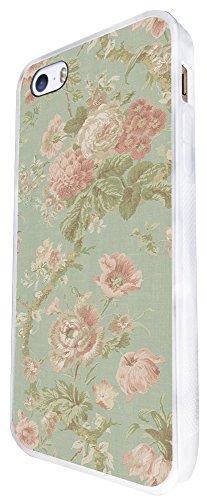 564 - Vintage Shabby Floral Roses Cute Design iphone SE - 2016 Coque Fashion Trend Case Coque Protection Cover plastique et métal - Blanc