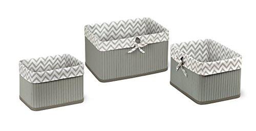 Badger Basket Claremont Three Basket Set, Gray (Basket Badger Fabric)